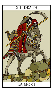 Death - tarot card meaning and illustration on Tarot-lovers com