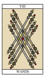 The Eight of Wands