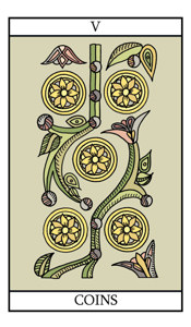 The Five of Pentacles (Coins)