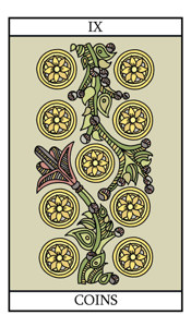 The Nine of Pentacles (Coins)