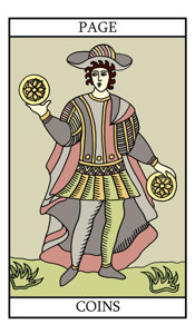 The Page of Pentacles (Coins)
