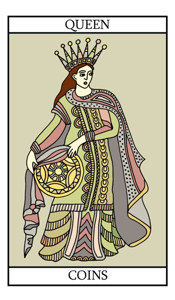 The Queen of Pentacles (Coins)