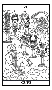 The Seven of Cups Illustrated