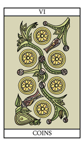 The Six of Pentacles (Coins)