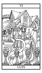 The Six of Cups Illustrated