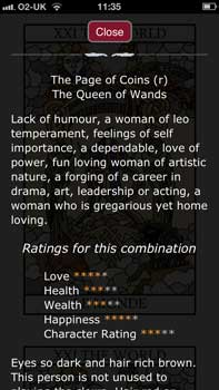 Learn Tarot Combinations with our App for iPhone, iPad and