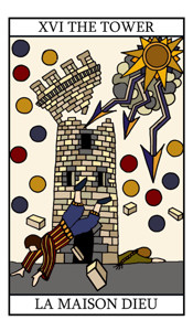 The tower tarot card meaning in detail on tarot for A la maison meaning