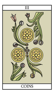 The Three of Pentacles (Coins)