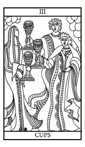 The Three of Cups Illustrated